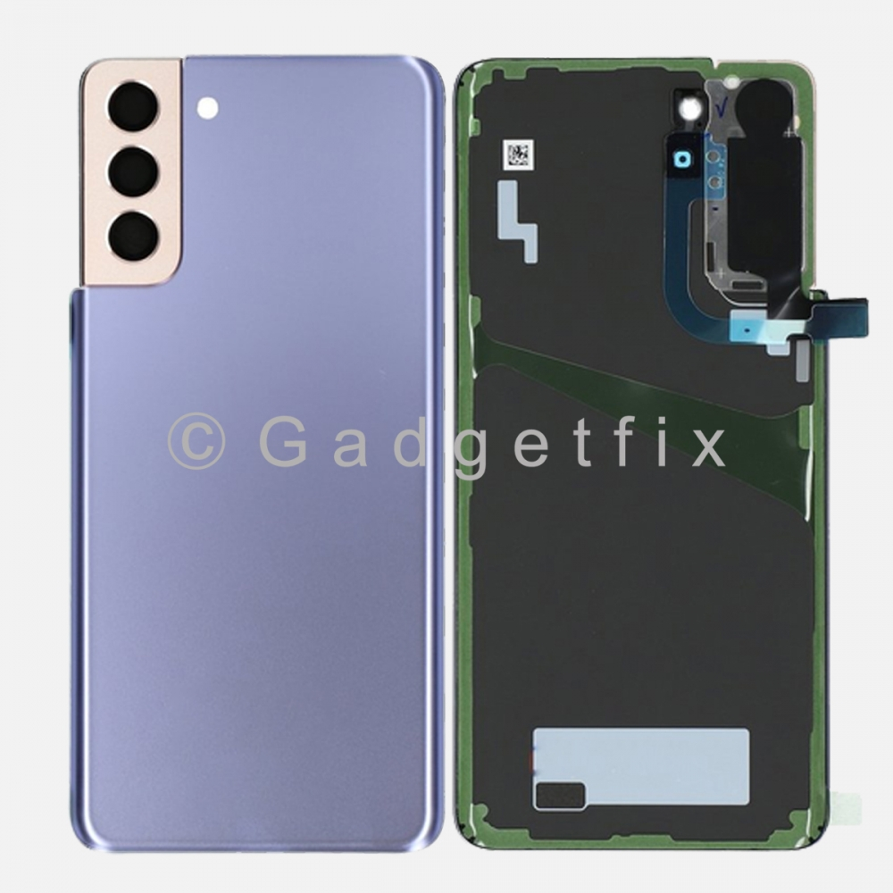 Violet Back Cover Glass Battery Door Camera Lens + Adhesive for Samsung Galaxy S21 Plus 5G