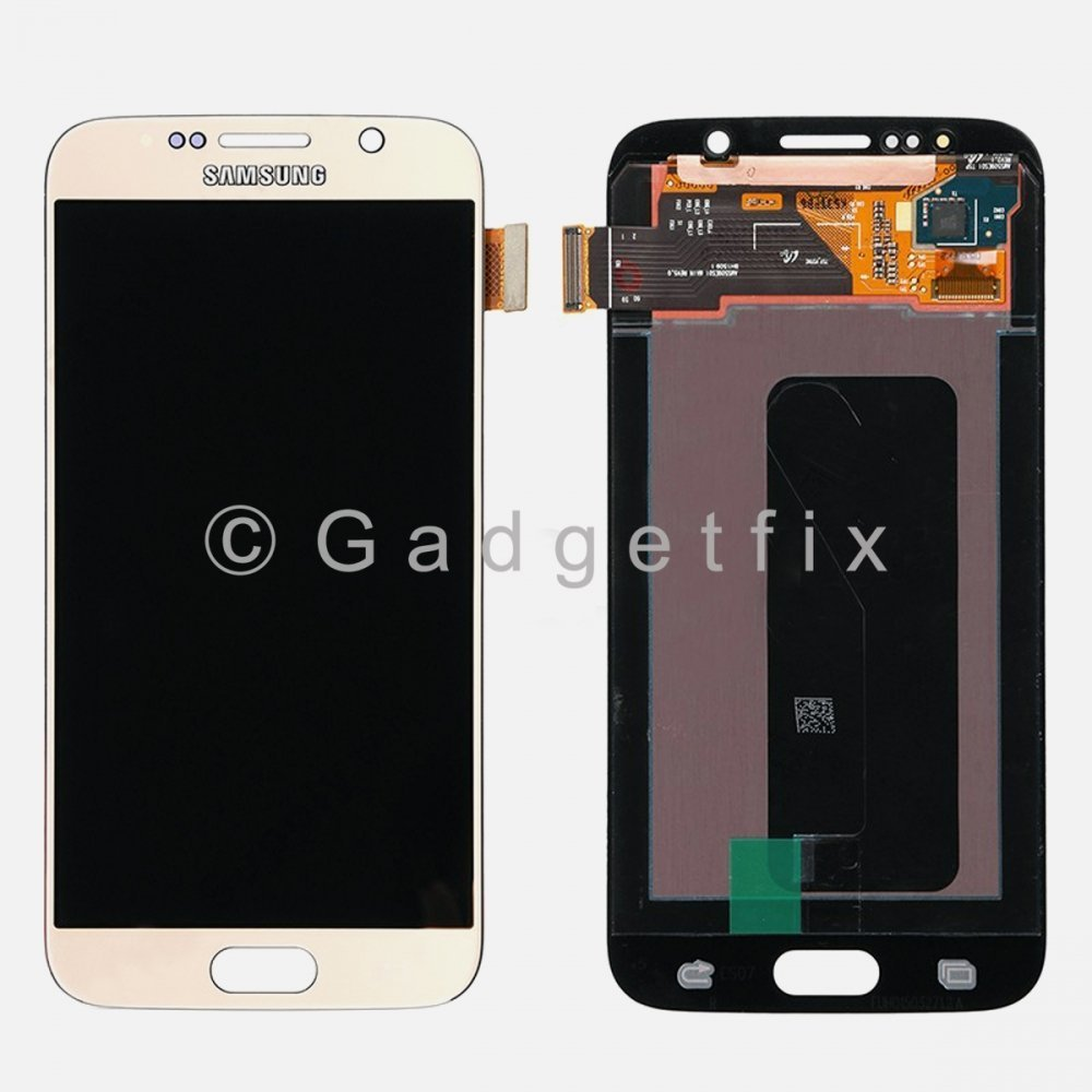 Gold Samsung Galaxy S6 G920 G920F G920A G920T G920V G920P LCD Screen Touch Screen Digitizer A