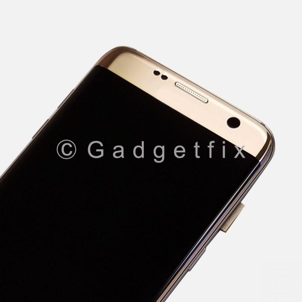 Gold Samsung Galaxy S7 Edge G935A G935T G935V G935P LCD Touch Screen Digitizer Frame