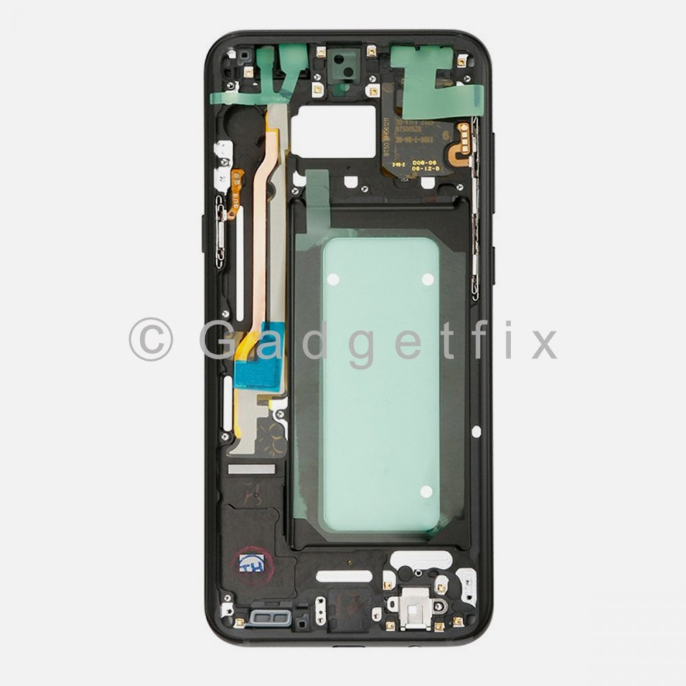 Black Samsung Galaxy S8 Plus G955A G955T G955P G955V Middle Housing Frame Bezel Mid Chassis