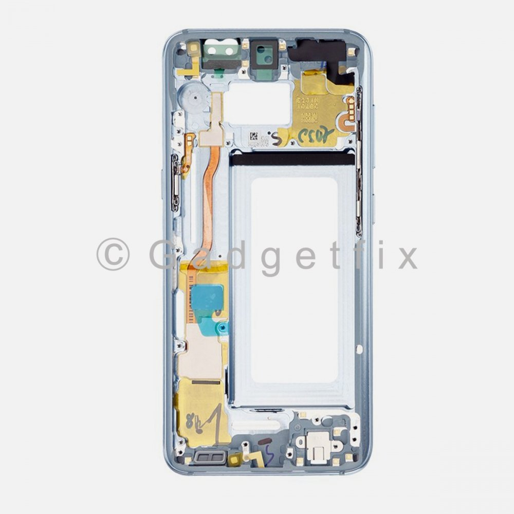 Coral Blue Samsung Galaxy S8 LCD Holder Middle Frame Bezel Mid Chassis Housing