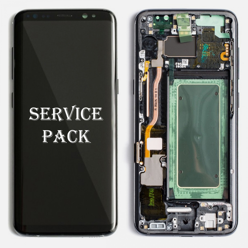 Black OLED LCD Touch Screen Digitizer + Frame For Samsung Galaxy S8 Plus (Service Pack)