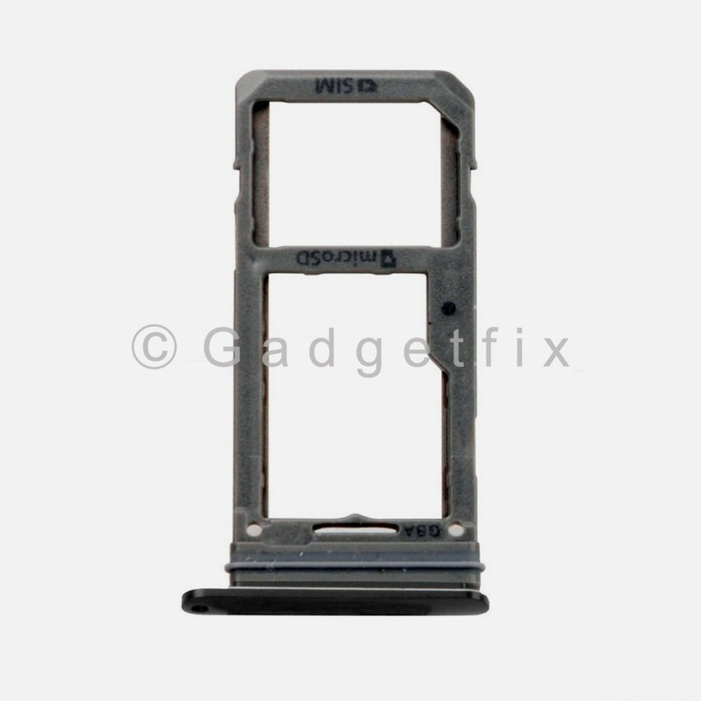 Samsung Galaxy S8 Plus Sim Tray Holder and MicroSD Card Tray Black