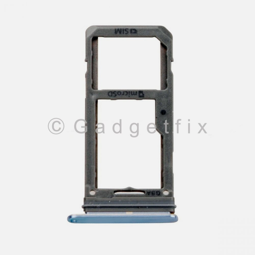 Samsung Galaxy S8 Plus Sim Tray Holder and MicroSD Card Tray Blue
