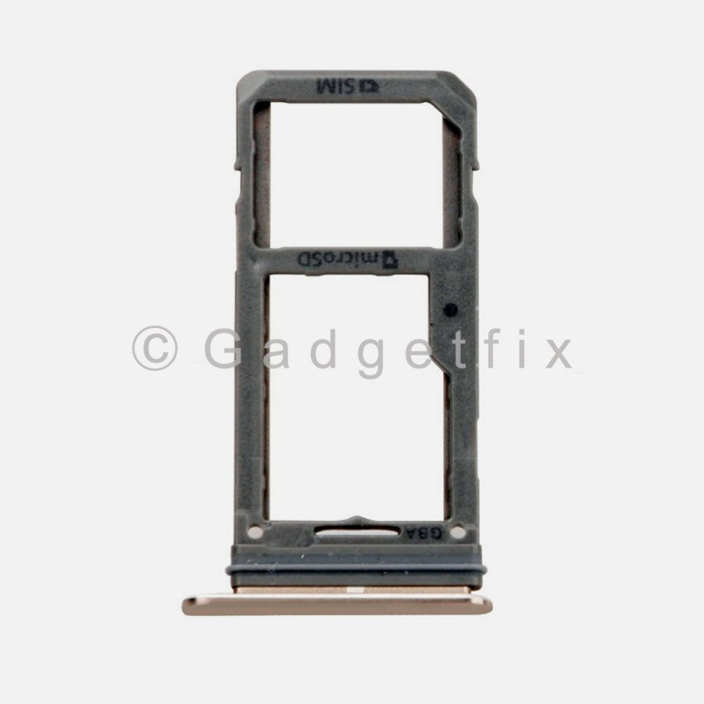 Samsung Galaxy S8 Plus Sim Tray Holder and MicroSD Card Tray Gold