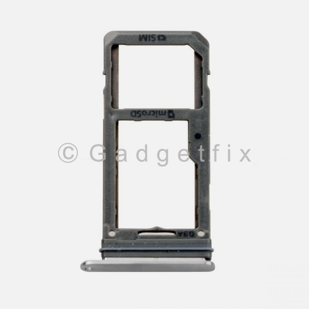 Samsung Galaxy S8 Plus Sim Tray Holder and MicroSD Card Tray Silver
