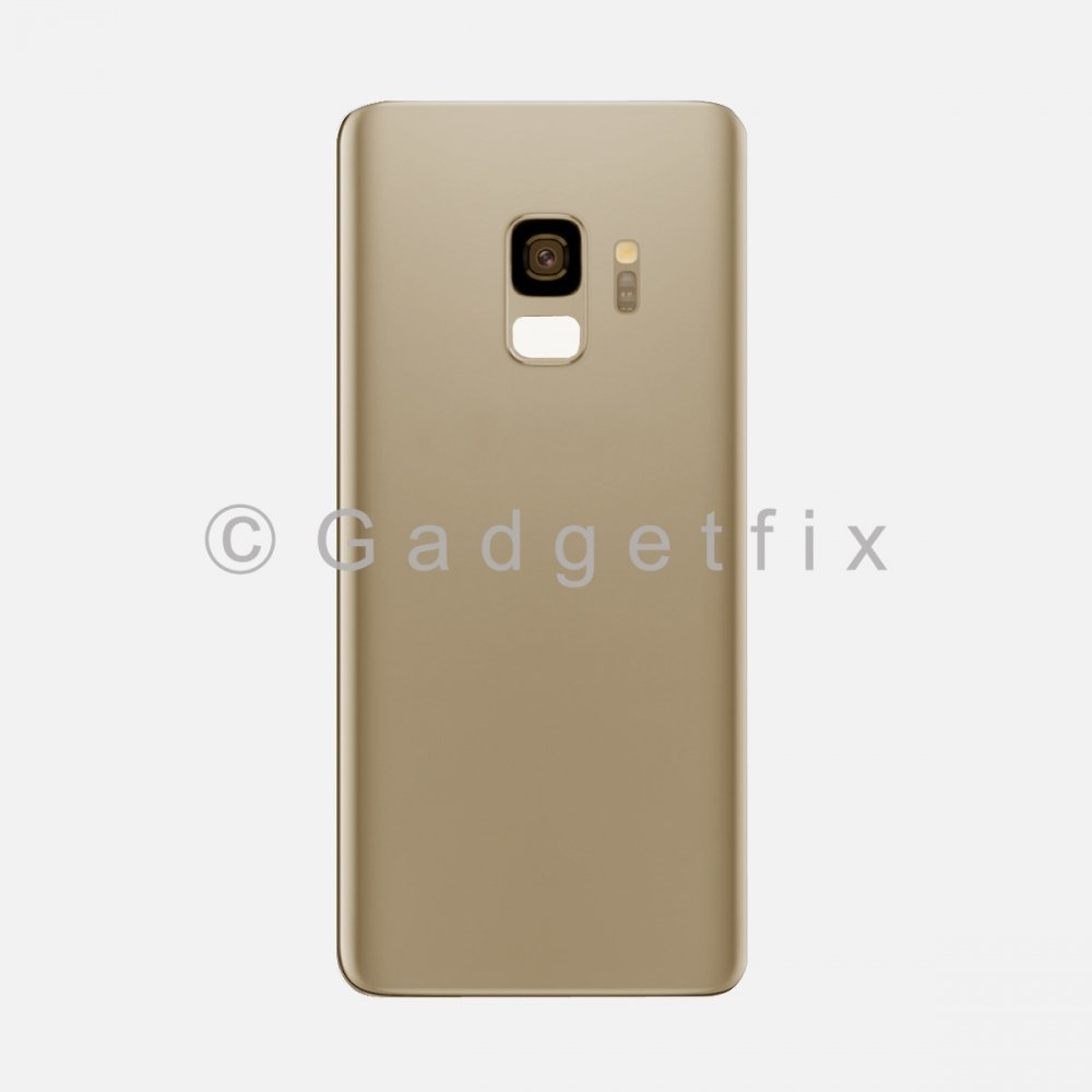 Gold Back Cover Glass Battery Door Camera Lens + Adhesive for Samsung Galaxy S9