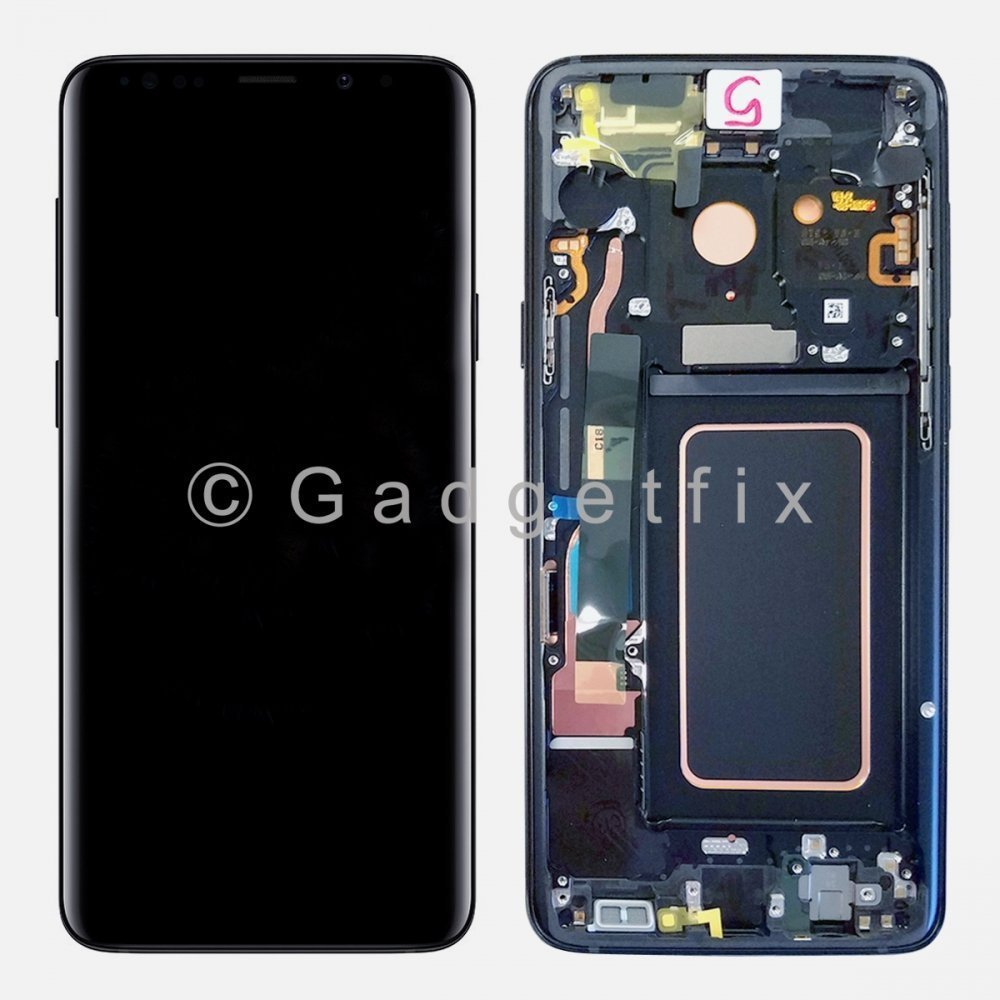 Blue LCD Display Touch Screen Digitizer Assembly + Frame For Samsung Galaxy S9