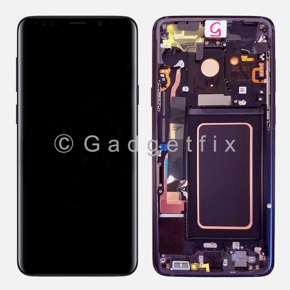 Purple LCD Display Touch Screen Digitizer Assembly + Frame For Samsung Galaxy S9