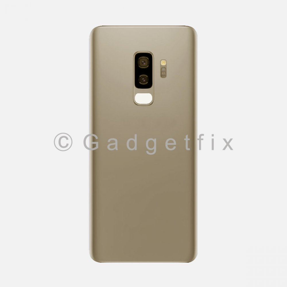 Gold Back Cover Glass Battery Door Camera Lens + Adhesive for Samsung Galaxy S9 Plus