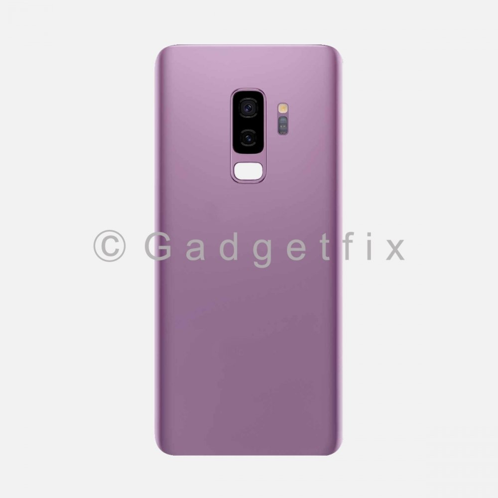 Purple Back Cover Glass Battery Door Camera Lens + Adhesive for Samsung Galaxy S9 Plus
