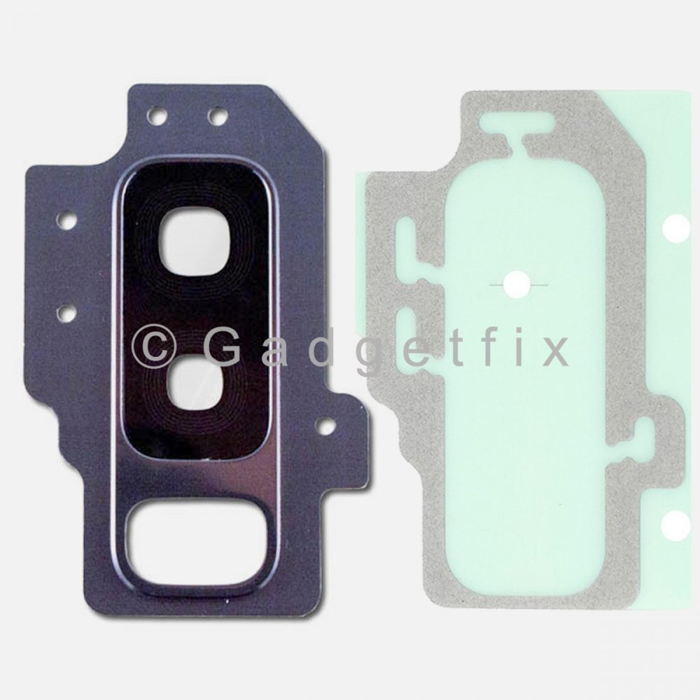 Blue Back Camera Lens Cover + Adhesive for Samsung Galaxy S9 Plus
