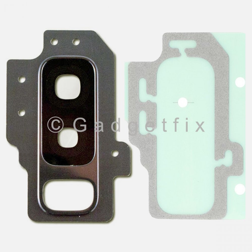 Gray Back Camera Lens Cover + Adhesive for Samsung Galaxy S9 Plus