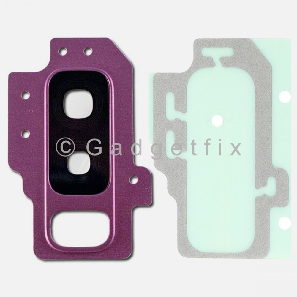 Purple Back Camera Lens Cover + Adhesive for Samsung Galaxy S9 Plus