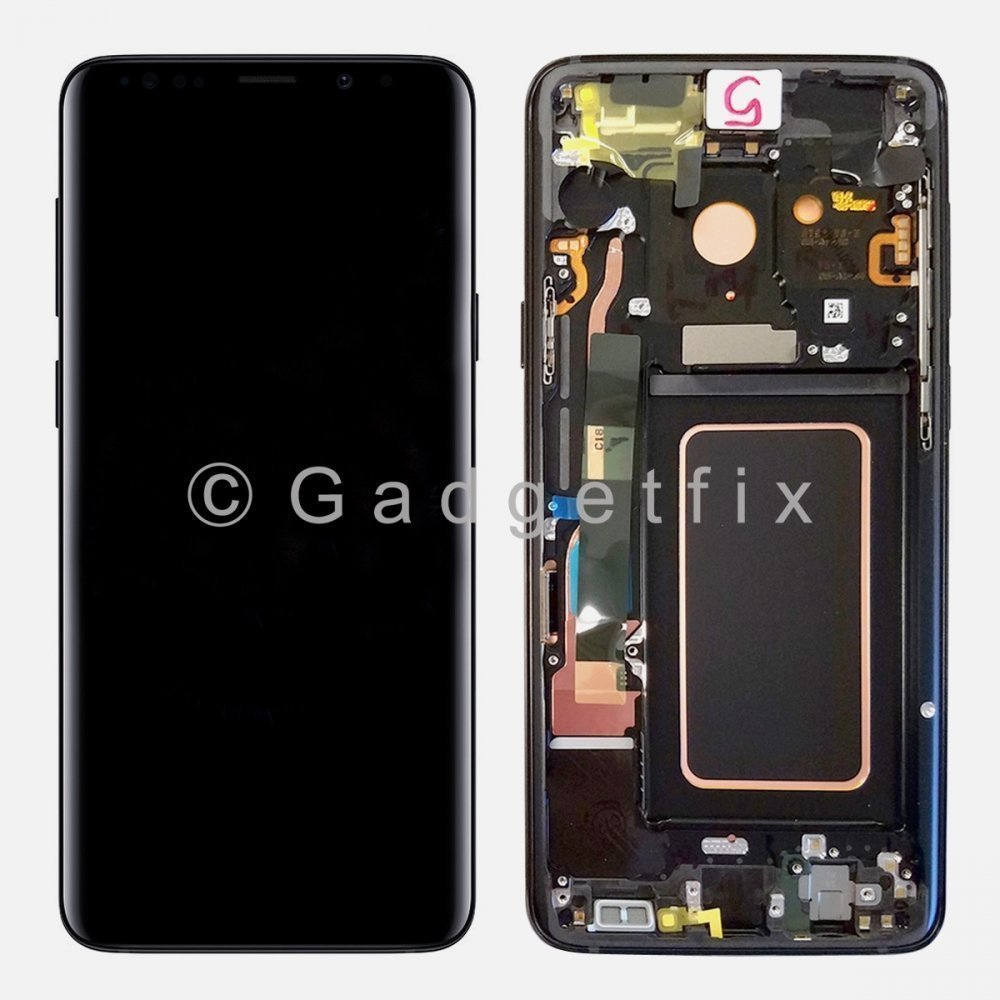 Black LCD Display Touch Screen Digitizer Assembly + Frame For Samsung Galaxy S9