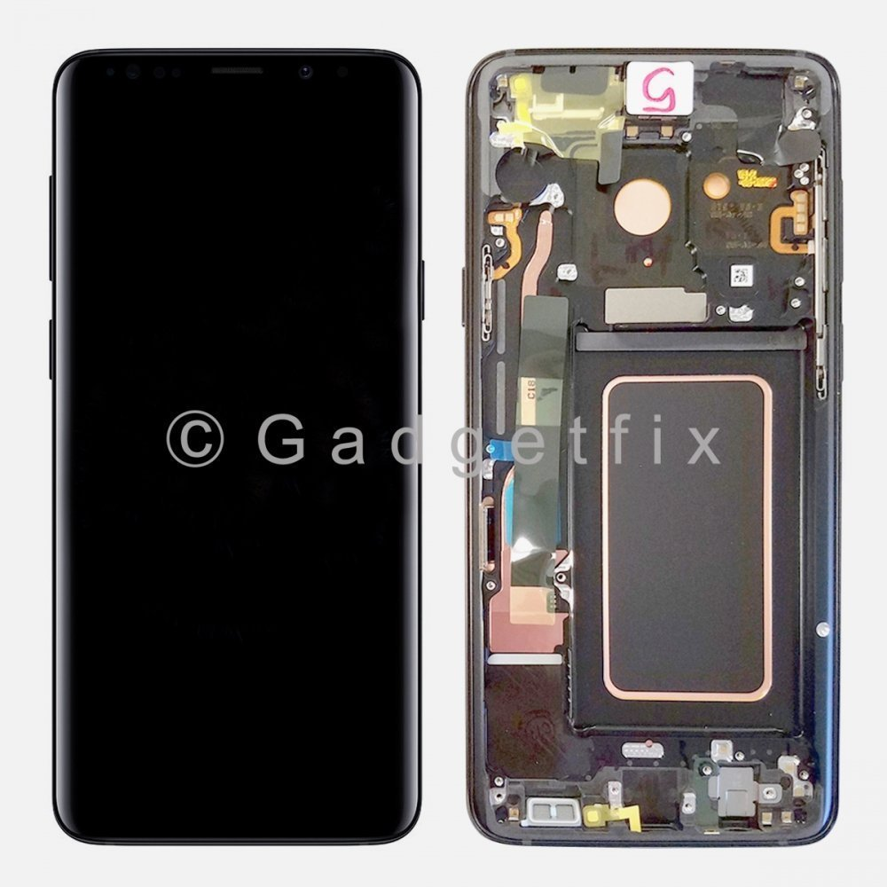 Gray LCD Display Touch Screen Digitizer Assembly + Frame For Samsung Galaxy S9