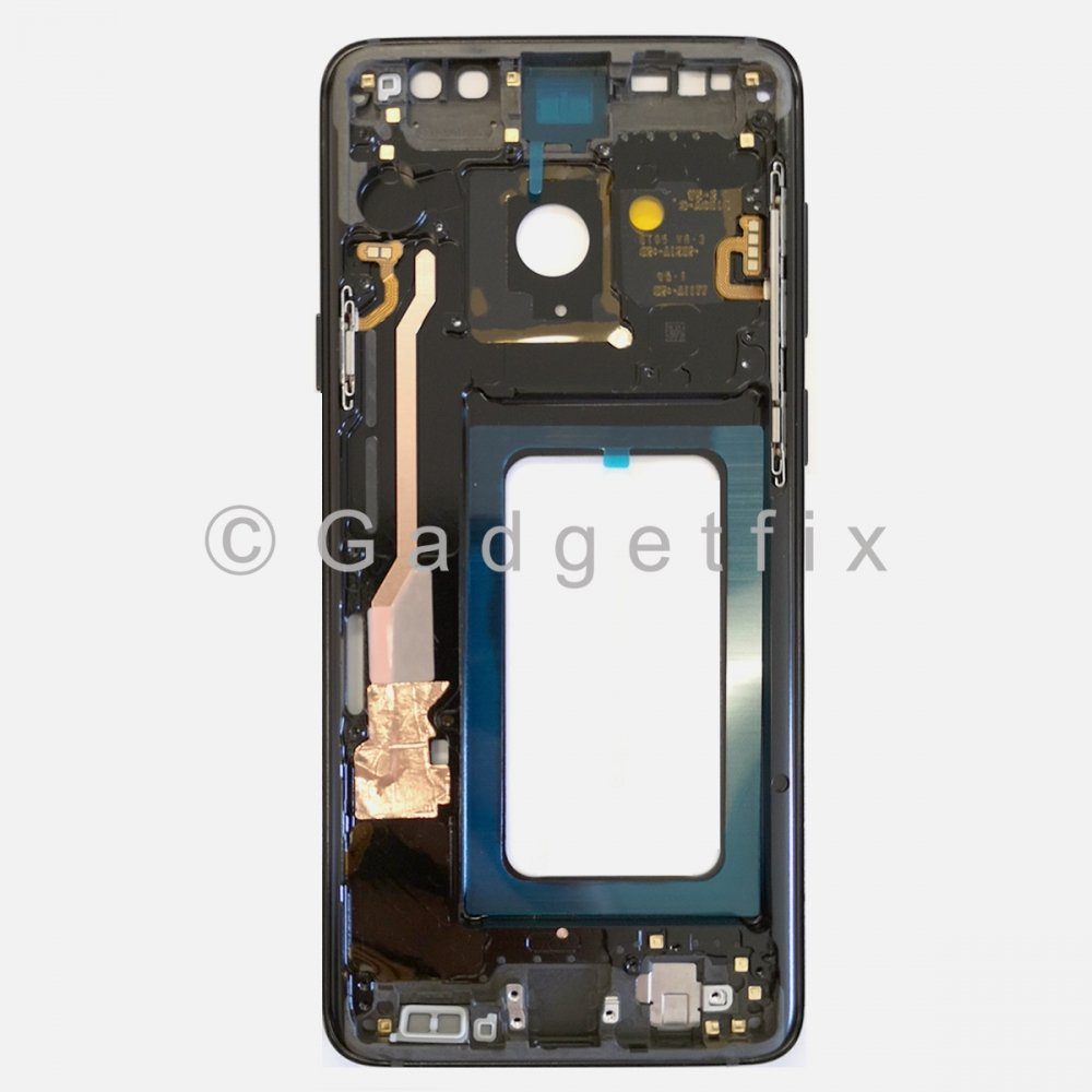 Black Samsung Galaxy S9 Plus Middle Housing Frame Bezel Mid Chassis