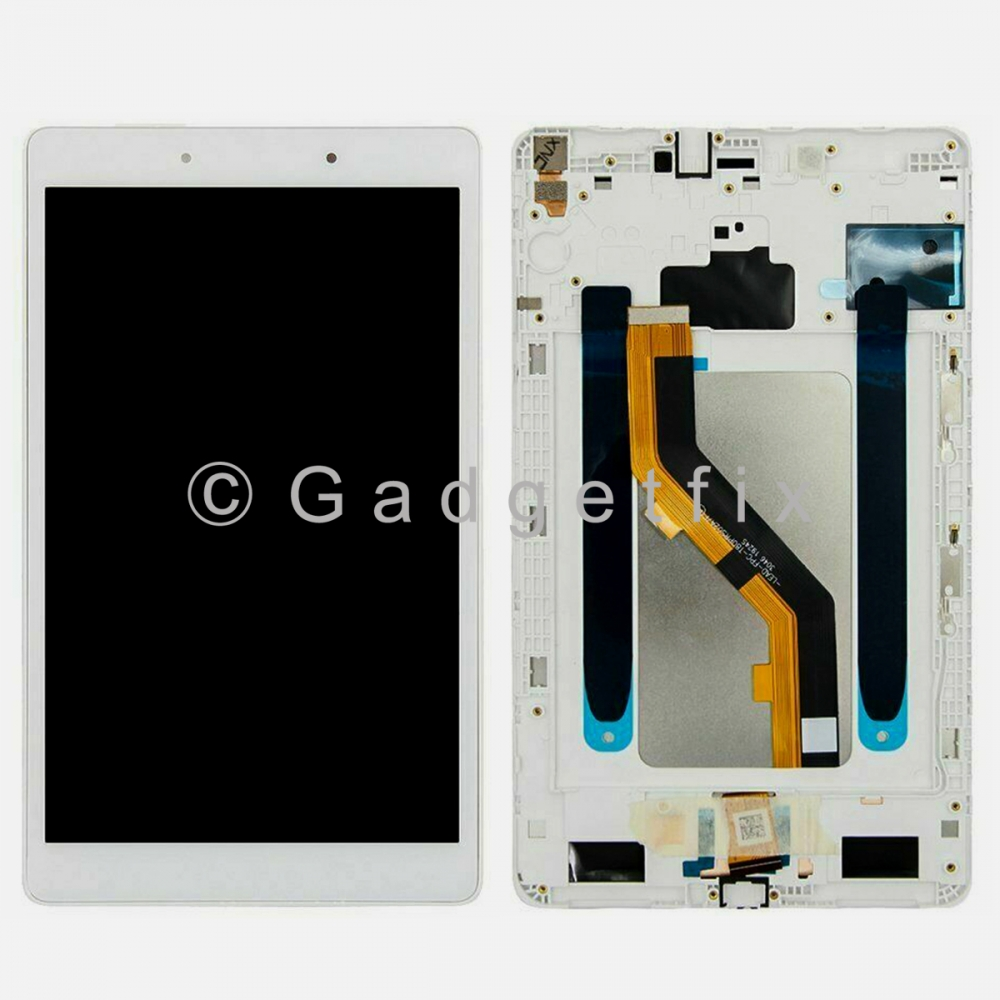White Display LCD Touch Screen Digitizer Frame For Galaxy Tab A 8.0